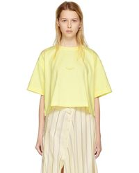 Acne Studios - Yellow Cylea T-shirt - Lyst