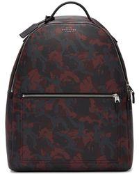 Smythson - Red Camo Oxblood Burlington Backpack - Lyst