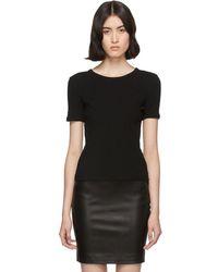 The Row - Black Leah T-shirt - Lyst