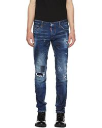 DSquared² - Blue Toppa Slim Jeans - Lyst