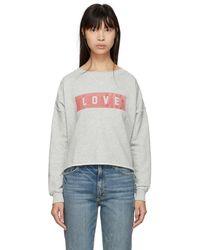 AMO - Grey Love Cut-off Sweatshirt - Lyst