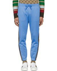 Gucci - Blue Logo Tape Sweatpants - Lyst