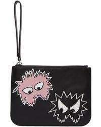 McQ - Black Medium Rave Monster Pouch - Lyst