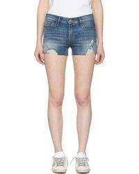 FRAME | Blue Le Cutoff Denim Shorts | Lyst