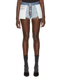 Unravel - Indigo Reverse Rigid Denim Shorts - Lyst