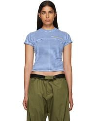 Eckhaus Latta - Ssense Exclusive Blue Lapped Baby T-shirt - Lyst