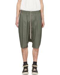 Rick Owens - Green Ricks Pods Shorts - Lyst