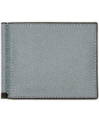 Valextra - Grey Simple Grip Wallet - Lyst