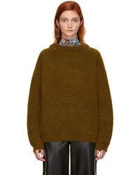 Acne Studios - Brown Wool Dramatic Jumper - Lyst