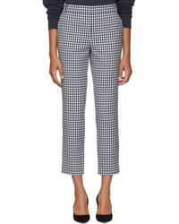 Tibi - Black And White Gingham Trousers - Lyst