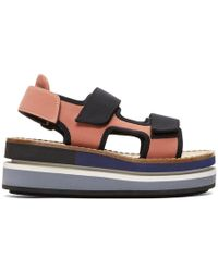 Marni - Pink Platform Wedge Sandals - Lyst