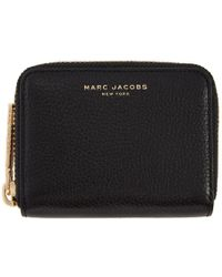 Marc Jacobs - Black Small Zip Around Wallet - Lyst