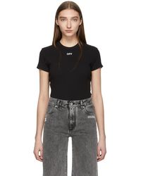 Off-White c/o Virgil Abloh - Black Fitted T-shirt - Lyst