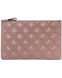 Valentino - Pink Garavani Large Candystud Pouch - Lyst