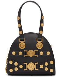Versace - Black Small Medusa Bowling Bag - Lyst
