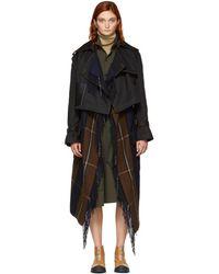 Loewe - Black Blanket Trench Coat - Lyst