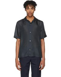 Paul Smith - Navy Silk Shirt - Lyst