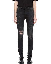 Marcelo Burlon - Black Distressed Kateun Skinny Jeans - Lyst