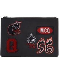McQ - Black Varsity Badge Tablet Pouch - Lyst