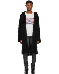 Saint Laurent - Black Baja Cardigan - Lyst