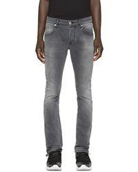 Balmain - Grey Skinny Jeans - Lyst