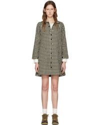 Visvim | Black Check Impressionist Dress | Lyst