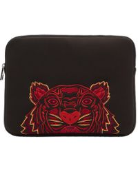 KENZO - Black Neoprene Chinese New Year Tiger Laptop Case - Lyst