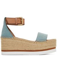 eef0eeac879 Rag & Bone Sayre Wedge Espadrilles in Brown - Lyst