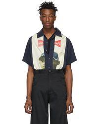 Telfar - Black And Beige Slash Pocket Bowling Shirt - Lyst
