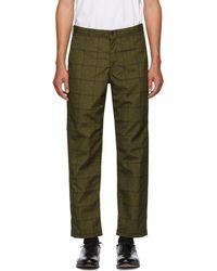 Comme des Garçons - Khaki Check Trousers - Lyst