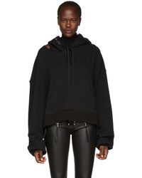 Unravel - Ssense Exclusive Black Cut Chopped Hoodie - Lyst