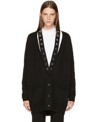 Givenchy - Black Cashmere Stars Cardigan - Lyst