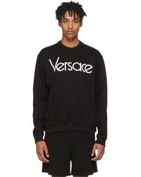 Versace - Black Logo Sweatshirt - Lyst