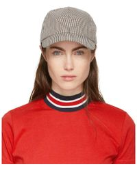 Harmony - Brown And Off-white Arnaud Cap - Lyst
