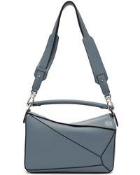 Loewe - Blue Medium Puzzle Bag - Lyst