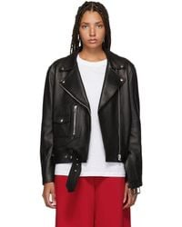 Acne Studios - Black Leather New Merlyn Jacket - Lyst