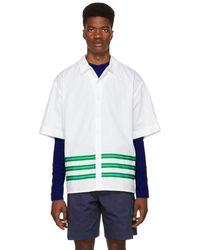 KENZO - White Striped Hawaiian Shirt - Lyst