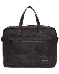DIESEL - Black Camo F Discover Briefcase - Lyst