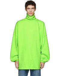 Balenciaga - Col roule surdimensionne vert - Lyst