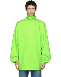 Balenciaga - Green Oversized Turtleneck - Lyst