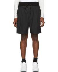 3.1 Phillip Lim - Short plisse a cordon coulissant noir Walking - Lyst