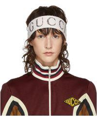 Gucci - Ivory Logo Headband - Lyst