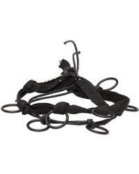 Ann Demeulemeester Black Ribbon And Rings Bracelet