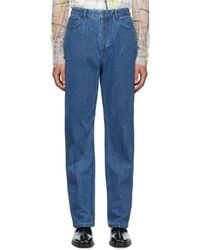 Y. Project - Blue Small Line Jeans - Lyst