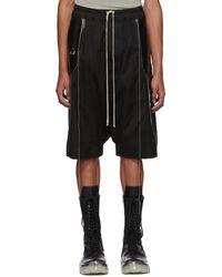 Rick Owens - Short a panneaux noir Ricks Pods - Lyst