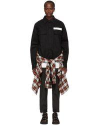 Ambush - Ssense Exclusive Black Nobo Waist Tie Shirt - Lyst