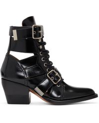 Chloé - Black Rylee Strap Boots - Lyst