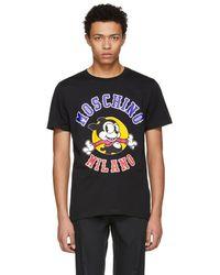 Moschino - Black Cartoon Logo T-shirt - Lyst