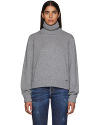 DSquared² - Grey Wool And Cashmere Sweater - Lyst