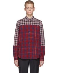 PS by Paul Smith - Red Cut-up Plaid Shirt - Lyst